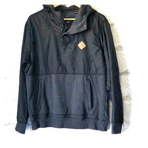 Volcom pullover jacket hoodie men's small black